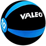 Valeo Medicine Ball With Sturdy Rubber Construction And Textured Finish, Weight Ball Includes Exercise Wall Chart For Strength Training, Plyometric Training, Balance Training And Muscle Build