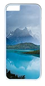 iPhone 6 Plus Cases, ACESR Plastic Hard Case Cover for Apple iPhone 6 Plus (5.5inch Screen) White Border Mountain...