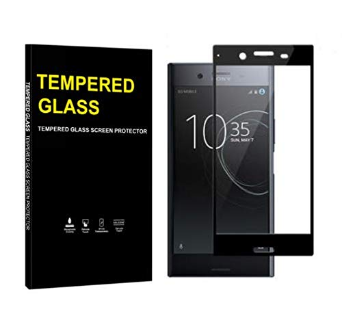 Jaorty for Sony Xperia XZ Premium Full Cover Soft Edge Screen Protector,Full Coverage Tempered Glass 3D Round Edge 9H Hardness Anti-Scratch HD Clear Easy Installation (1 Pack,Black)