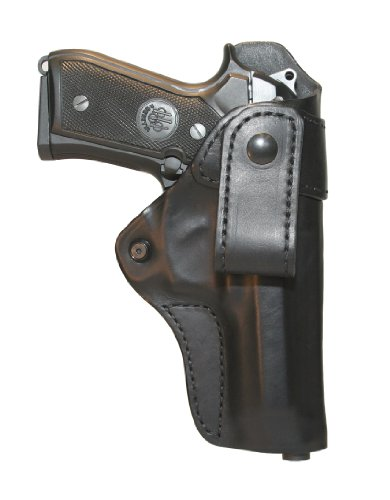 BLACKHAWK! Leather Inside-the-Pants Black Holster, Size 03, Right Hand, (Glock 17/19/22/23/31/32/36) (Holster Pant Blackhawk Inside)