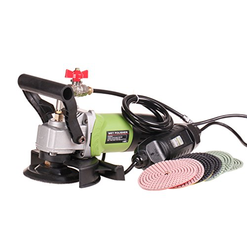 ZFE 900W/110V Variable Speed Wet Polisher / Grinder & Granite Diamond Polishing Pads