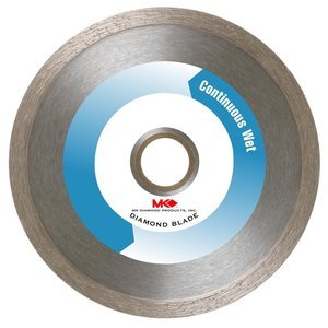MK Diamond 137166 MK-200 Premium 10-Inch Wet Cutting Continuous Rim Saw Blade with 5/8-Inch Arbor for Tile ()