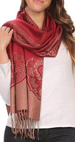Sakkas Traditional Patterned Fringe Pashmina product image