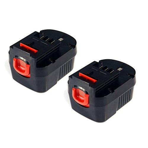 2x MASIONE 14.4V 2.0Ah Replacement Drill Battery for Black & Decker 499936-34,499936-35, A14,A144,A144EX,A14F,B-8316,BD1444L,BPT1048,HPB14,Firestorm FS140BX,FSB14