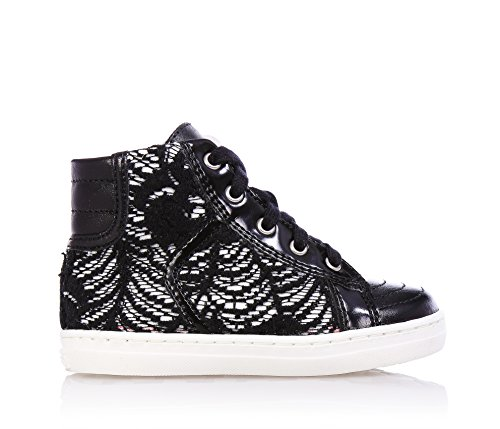 girl girls child lace UK Sneakers of CULT 5 leather lace Black up 4 made and PqWBv1z