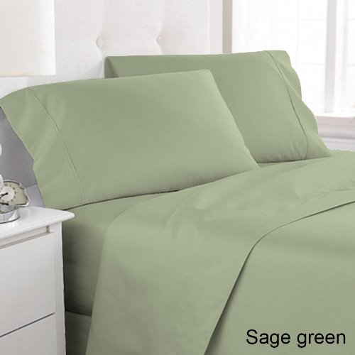 Adamlinens Luxury 68 Pick Flat Sheet,Sage Green ,King,Bed Sheet:  Amazon.co.uk: Kitchen U0026 Home