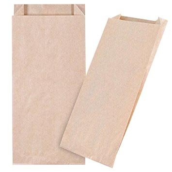 50 pequeñas Kraft bolsas de papel con base (12+(2x2)/27 cm ...
