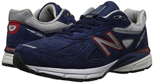 New Balance Men's 990v4 Running Shoe, Blue/Pigment Red, 7 D US by New Balance (Image #5)