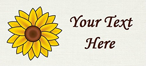 Yellow Sunflower Flora – Cotton Fabric Labels for Handmade Items/Customized Garment Clothing Size Fabric Labels/Personalized Printed Fabric Sew Tag Labels/Quilt, Crochet, Knit, Sewing by Yarn Hookers