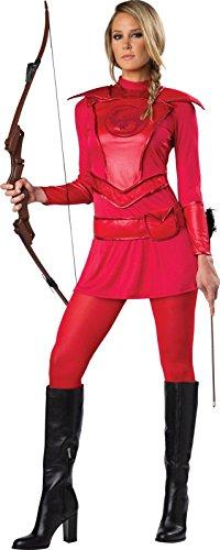 Huntress Red Warrior Women Costume (Katniss Everdeen Halloween Costumes)