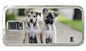 Hipster Samsung Galaxy S5 Case discount covers cute puppies PC Transparent for Samsung S5
