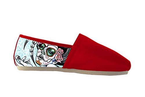 Scarpe Casual In Tela Da Donna Con Scarpe Da Donna Casual A Tema Day Of The Dead14