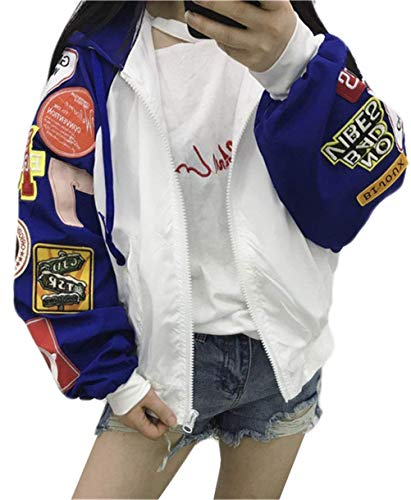 Giacca Manica Donna College Cappotto Coat Prodotto Costume Lunga Plus Outdoor Autunno Cappuccio Huixin Baseball Blau College Con Baggy Giaccone Jacket Fidanzato PvXf8qd
