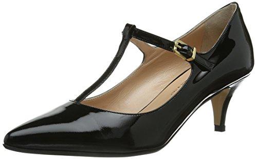schwarz Nero Col Con Cinturino Alla Evita Scarpe Caviglia schwarz Donna Shoes Tacco RPwxUqp