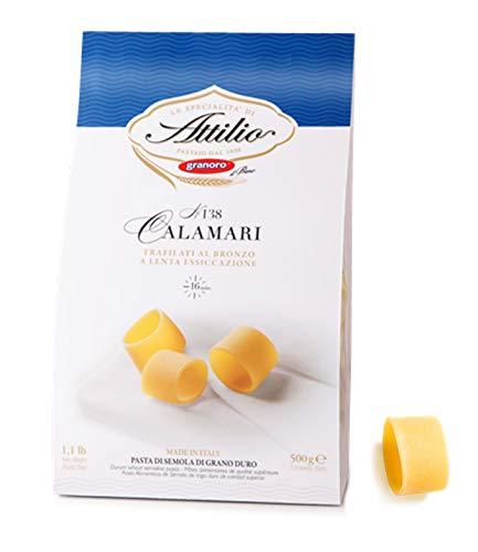 - Granoro Attilio Pasta Number 138 Calamari Trafilati Al Bronzo -Made in Italy 2 Pack