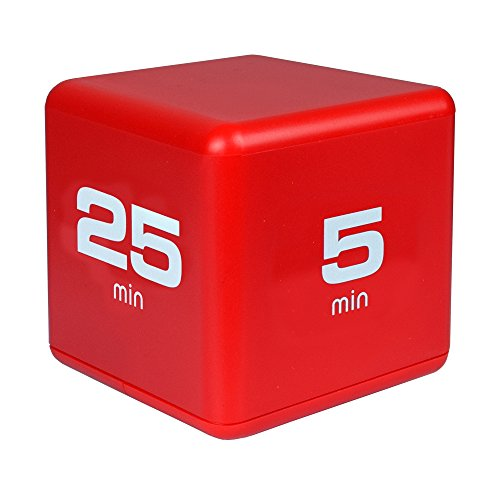 Miracle TimeCube Timer, Time Management Model, 5-10-20-25 Minute Preset Timer, Red, DF-38 (Model Turn Signal)
