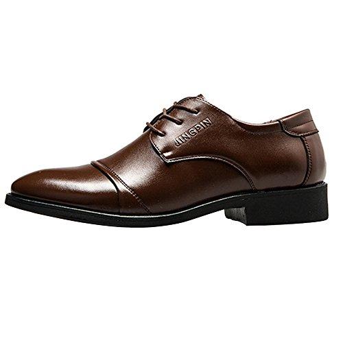 Nxy Heren Dress Leer Oxford Lace Up Klassieke Schoenen Plus Size Zwart En Bruin Bruin