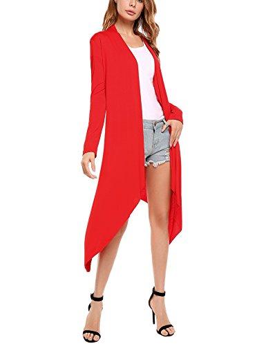 Meaneor Womens Waterfall Cardigan Sweater
