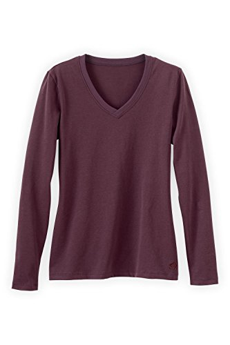 Fair Trade Fashion (Fair Indigo Fair Trade Organic Essential Long Sleeve V-Neck Tee (S, Raisin))