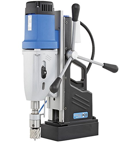 "CS Unitec MABasic 850 Portable Magnetic Drill Press: 2-Speed, MT3, Drills up to 3-1/16"" Diameter, up to 10"" Depth of Cut, 1800W, Best Power to Weight Ratio, Electronic Safety Shutoff"
