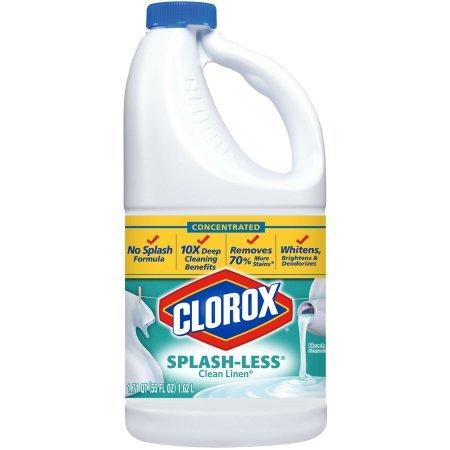 Clorox splash-less lejía, aroma a ropa limpia), 55 onzas: Amazon ...