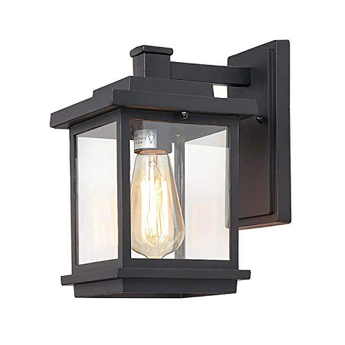 (LALUZ Rustic Outdoor Wall Light Hanging Lantern Sconces for Porch Front Garden 1)