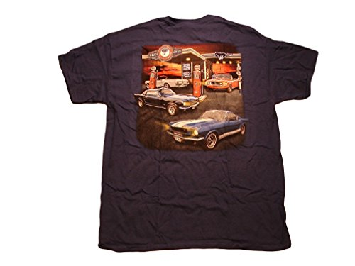 Ford Mustang Service Station / Various '60's Mustangs Men's T Shirt (Large)