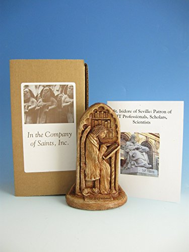 St. Isidore of Seville: Patron of Internet Technology Professionals, Scholars, Scientists; Handmade Statue by In the Company of Saints (Image #3)
