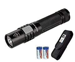 The reliable Fenix E35UE is now available in a surprisingly powerful 1000 Lumens--all from one 18650 Li-ion battery or two CR123A batteries. Imagine 1000 lumens from 4.8 inches! The dual side switch works separately, resulting in a simple int...