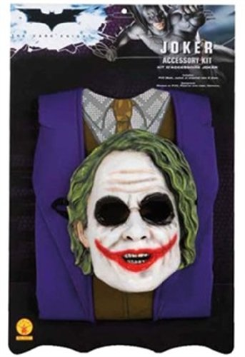 [Rubies Batman The Dark Knight Child's The Joker Costume Set] (Joker Costumes Kids)