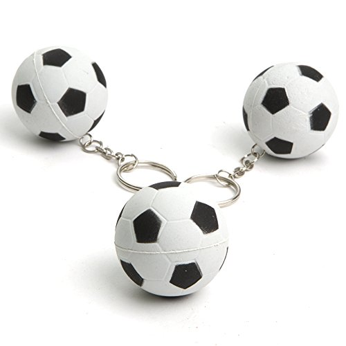 "1 1/2"" Rubber Soccer Ball Keychains"