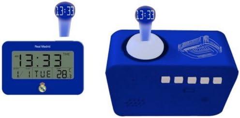Despertador PROYECTOR R.Madrid PARLANTE con Calendario Y Temperatura: Amazon.es: Electrónica