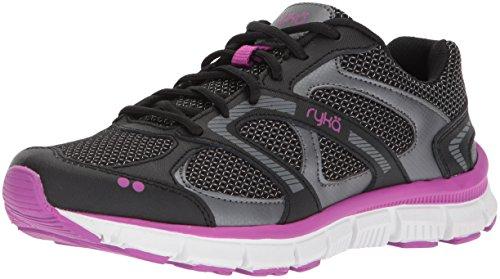 Ryka Women's Harmony Cross Trainer, Black/Meteorite/Purple, 6.5 M US