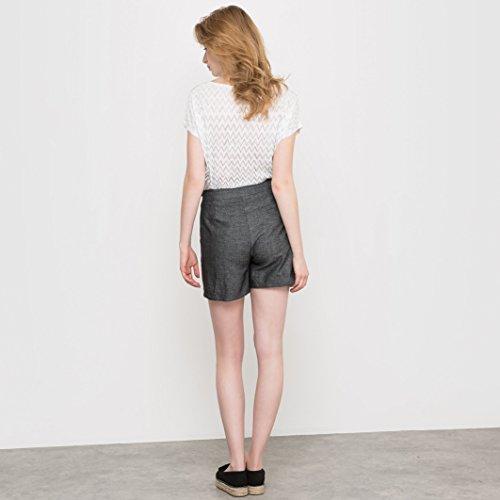 R Studio Frau Shorts, Leinenbaumwolle Gre 38 Grau