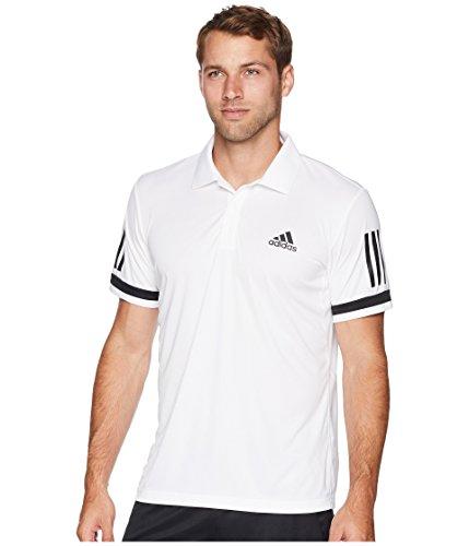 (adidas Men's Tennis Club 3-Stripe Polo White Small )