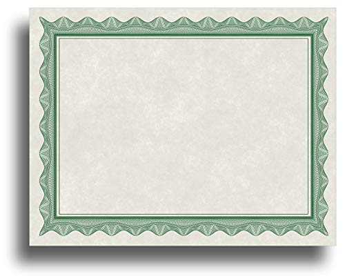 (Blank Parchment Certificate Paper for Awards - Works with Inkjet/Laser Printers - Measures 8 1/2
