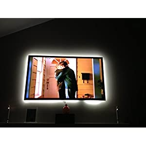 "Home Theater Accent Lighting | LED Backlight TV Normal Bright Cool White Large Kit: Recommended for Flat Screen TVs up to 85"" Inspired LED"