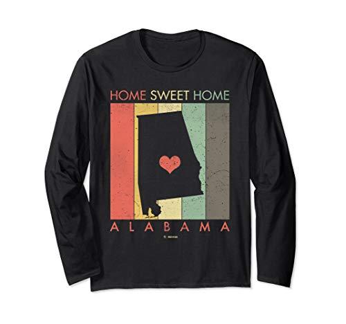 Shirt Home Ls Retro - Retro Vintage Alabama Long Sleeve Shirt Gift