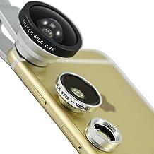 "First2savvv JTSJ-CJ3-16 silver Universal Detachable 0.4X Super Wide Angle + 0.29X fish eye + Macro lens professional Mobile phone Lens for SONY Xperia Z 10.1"" Full HD WiFi Tablet - 16 GB Sony Vaio 11.6 Inch 4GB 128GB Tablet PC Sony Xperia Z2 10.1 Inch Tablet with LENS Cleaning Cloth"