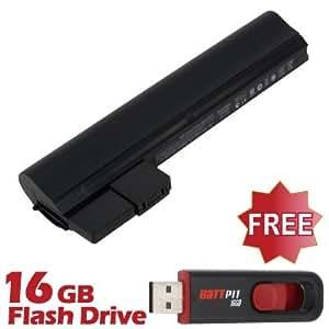 Battpit Bateria de repuesto para portátiles HP Mini 210-2170ca (4400mah) Con memoria USB de 16GB GRATUITA