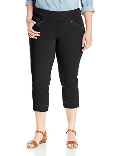 Jag Jeans Women's Plus Size Marion Pull on Crop in Bay Tw...