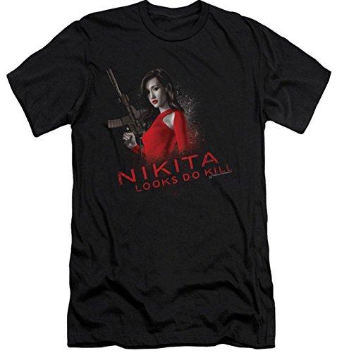 Nikita Looks Do Kill Slim Fit T-Shirt Large Black