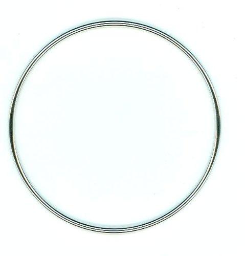 Diamantly - Bracelet Jonc Massif or Gris Fil Rond 2.0 X 65 mm - Bijoux or Rhodiè 375/1000 (9 Carats) - Femme - Fille