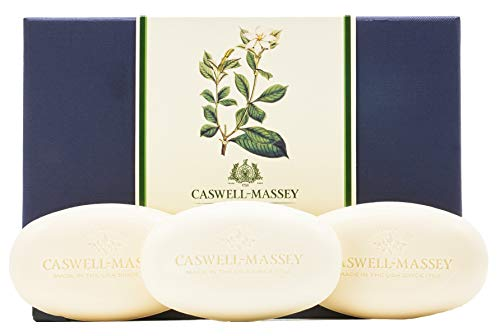Caswell-Massey Gardenia Luxury Bath Soap Bar Set - Includes Three Triple-Milled Bath Soaps - Made In USA