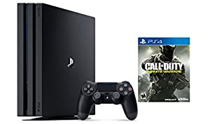 Playstation 4 Slim 2 items Bundle: PlayStation 4 Slim 500GB Console - Uncharted 4 Bundle and Call of Duty: Infinite Warfare - Standard Edition Game Disc
