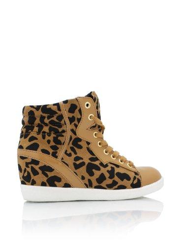 Leopard Kontrastkile Joggesko 6 Tan