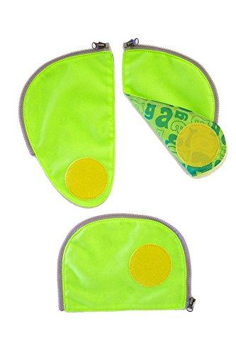 Ergobag Zubehör und Accessoires Sicherheitsset Fluoreszierende Zip-Flächen Grün 3-tlg. 213 grün