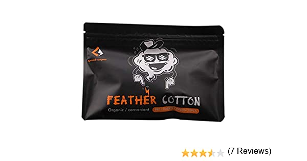 GeekVape Feather Cotton - Mecha de algodón para vaper, 1 paquetes ...