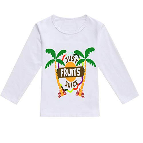 NUWFOR Toddler Baby Kids Boys Girls Spring Cartoon Print Tops T-Shirt Casual Clothes(White,3-4 Years) by NUWFOR (Image #1)