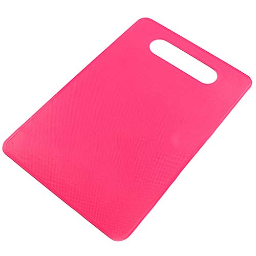 t0uvtrukCs Chopping Board Cutting Block Mat Tool Kitchen Cook Supplies Nonslip Plastic Magenta